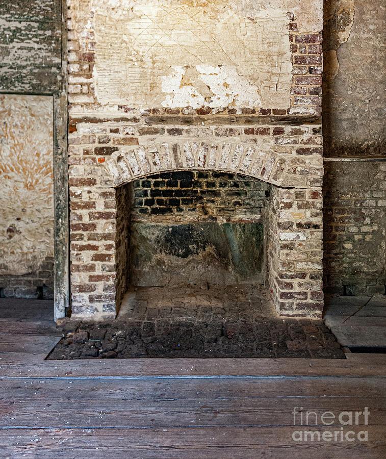 Vintage Fireplace - Aiken Rhett House Photograph