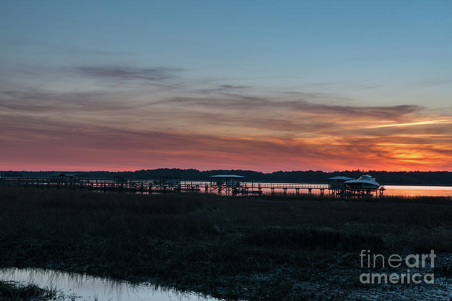 Wando River Sunset Sky - Charleston South Carolina Photograph