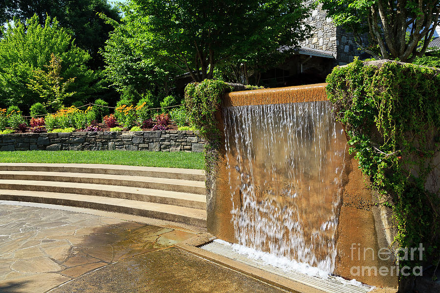 Water Fountain At North Carolina Arboretum In Asheville Photograph