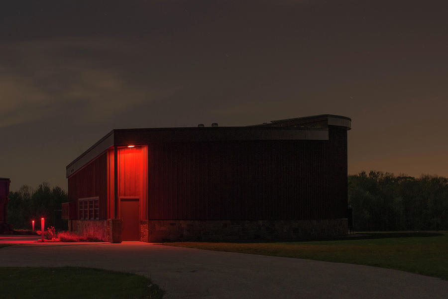 Wedge Building At Night Photograph