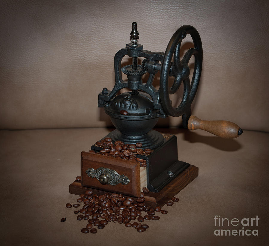 Whole Bean Manual Coffee Grinder Photograph
