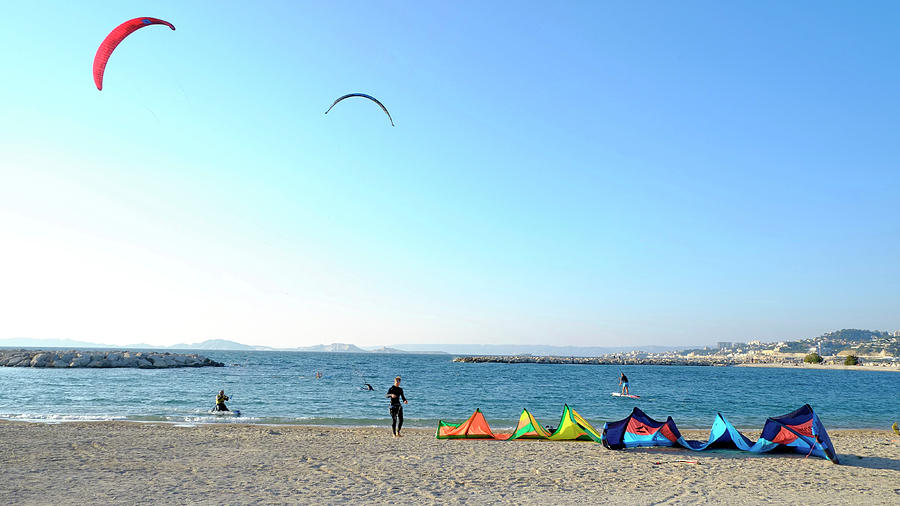 Windsurfing Marseille Photograph