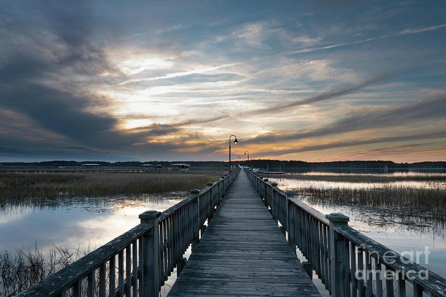 Winter Sunset - Wando River Photograph