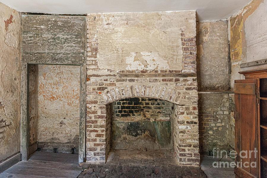 Wood Fireplace - Aiken Rhett House Photograph