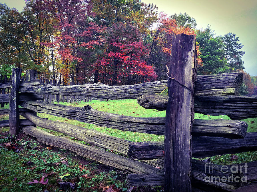 Wooden Fence On The Blueridge Parkway Photograph