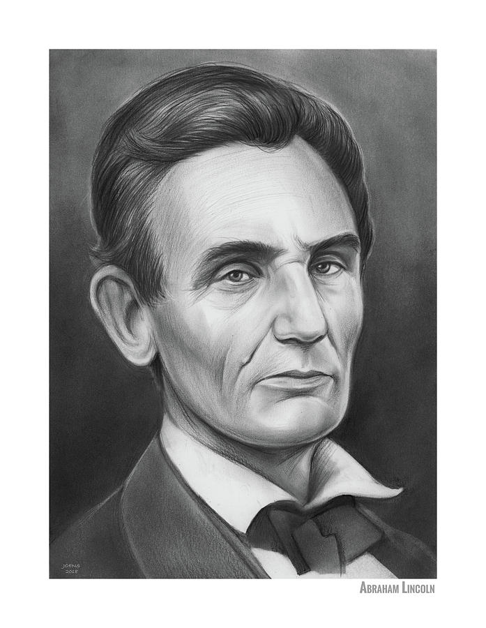 Young Lincoln Lawyer Drawing