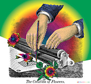 The Creation Of Flowers Print by Eric Edelman
