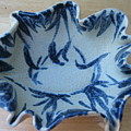Blue Leafy Bowl by Julia Van Dine