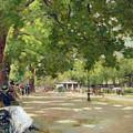 Hyde Park - London by Count Girolamo Pieri Nerli