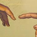 Michelangelos Creation Of Adam 1510 by Eric Dee