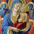 Virgin And Child With Angels by Benozzo di Lese di Sandro Gozzoli