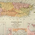 Map: Puerto Rico, 1900 by Granger