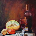 Still Life With Wine by Rose Sciberras