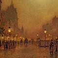 A Street At Night by John Atkinson Grimshaw