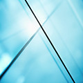 Abstract Intersecting Lines On A Glass Surface by Ralf Hiemisch