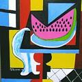 Abstract Watermelon by Nicholas Martori