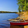 Canoe On Shore by Elena Elisseeva
