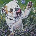 English Bulldog Print by Lee Ann Shepard