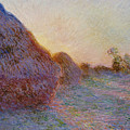 Haystacks by Claude Monet