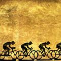 Illustration Of Cyclists by Bernard Jaubert
