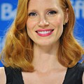 Jessica Chastain At The Press by Everett
