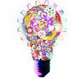 Light Bulb Design By Cogs And Gears  by Setsiri Silapasuwanchai