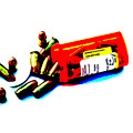 Pop Art Of .45 Cal Bullets Comming Out Of Pill Bottle by Michael Ledray