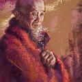 Portrait Of A Monk by Ellen Dreibelbis