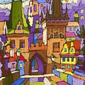 Prague Charles Bridge 01 by Yuriy  Shevchuk