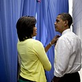 President Barack Obama And First Lady by Everett