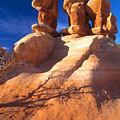 Sandstone Hoodoos In Utah Desert by Utah Images