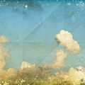 Sky And Cloud On Old Grunge Paper by Setsiri Silapasuwanchai