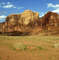Sparse Tussock And Rock Formations In The Wadi Rum Desert by Sami Sarkis
