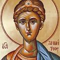 St Demetrios The Great Martyr And Myrrhstreamer by Julia Bridget Hayes