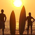 Surfer Silhouettes by Larry Dale Gordon - Printscapes