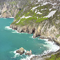 Tall Sea Cliffs Of Slieve League Donegal Ireland by Pierre Leclerc Photography