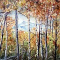 Tetons In Autumn by Patricia Pushaw