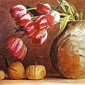 Tulips And Squash by David Lloyd Glover