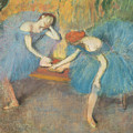 Two Dancers At Rest by Edgar Degas