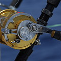 Two Rod And Reels On Board A Game Fishing Boat In The Mediterranean Sea by Sami Sarkis