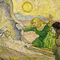 Van Gogh Raising Of Lazarus After Rembrandt by Vincent van Gogh