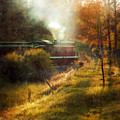 Vintage Diesel Locomotive by Jill Battaglia
