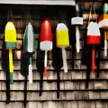 11 Buoys In A Row by Thomas Schoeller
