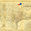 1849 Texas Map by Bill Cannon