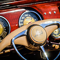 1941 Lincoln Continental Cabriolet V12 Steering Wheel by Jill Reger