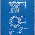 1951 Basketball Net Patent Artwork - Blueprint by Nikki Marie Smith