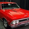 1966 Chevy Chevelle Ss 396 . Red . 7d9278 by Wingsdomain Art and Photography