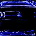 1969 Mustang In Neon 2 by Susan Bordelon