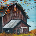 1980 Barn by Linda Simon