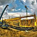 Construction Site by Jaroslaw Grudzinski